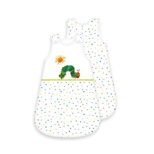 Produktbild Baby Schlafsack Raupe Nimmersatt weiß Größe 70cm Schlafsack Vorderseite Rückseite