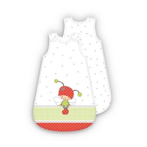 Produktbild Baby Schlafsack Käferchen rot Größe 70cm Schlafsack Vorderseite Rückseite
