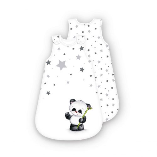 Produktbild Baby Schlafsack Sterne Panda weiß Größe 70cm Schlafsack Vorderseite Rückseite