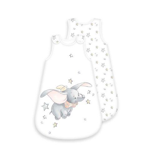 Produktbild Baby Schlafsack Dumbo weiß Größe 70cm Schlafsack Vorderseite Rückseite