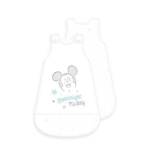 Produktbild Baby Schlafsack Mickey Mouse weiß Größe 70cm Schlafsack Vorderseite Rückseite