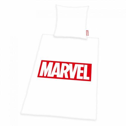 Produktbild Bettwäsche Marvel weiß rot Bettwäsche Vorderseite