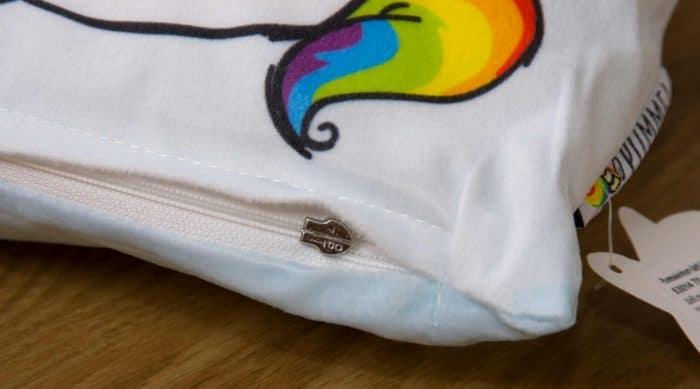 Produktbild Kissen Pummeleinhorn blau/weiß Reißverschluss