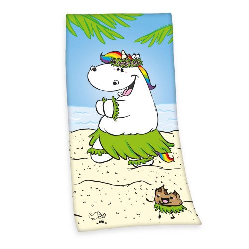 Produktbild Strandtuch Pummeleinhorn Mehrfarbig Strandtuch Vorderseite
