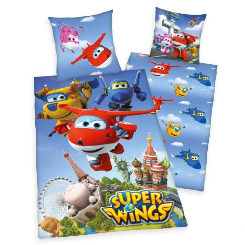 Produktbild Kinderbettwäsche Super Wings Mehrfrabig Bettwäsche Vorderseite Rückseite