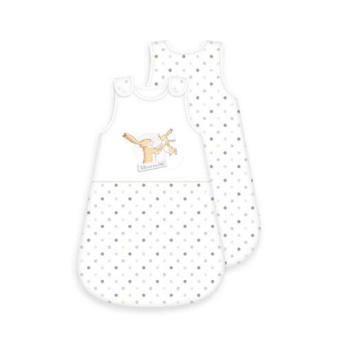 Produktbild Baby Schlafsack weißt du eigentlich wie lieb ich dich hab weiß Schlafsack Vorderseite Rückseite
