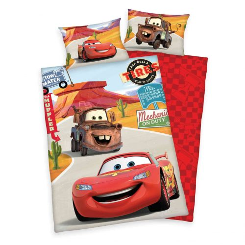 Produktbild Bettwäsche Disney cars rot Bettwäsche Vorderseite Rückseite