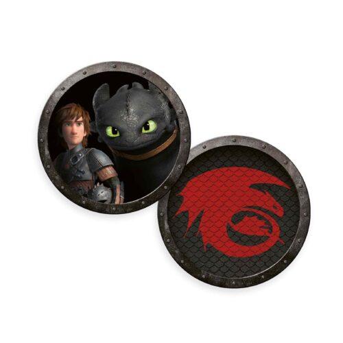 Produktbild Fleece Konturenkissen Dragons schwarz rot Kissen Vorderseite Rückseite