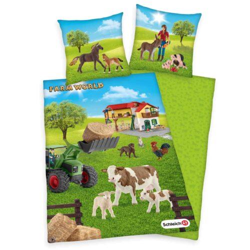 Produktbild Bettwäsche Schleich farm world Mehrfarbig Bettwäsche Vorderseite Rückseite
