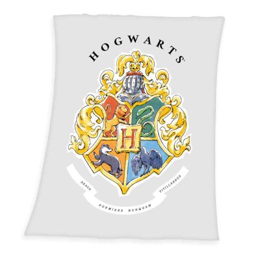 Produktbild Fleece Decke Harry Potter grau Gold Vorderseite