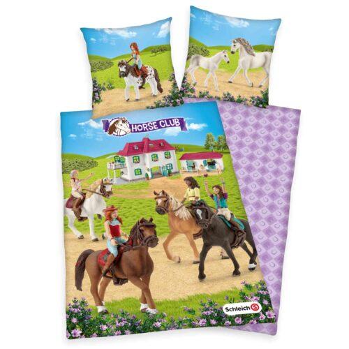 Produktbild Bettwäsche horse club Mehrfarbig Bettwäsche Vorderseite Rückseite