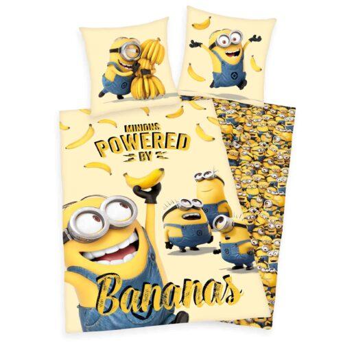Produktbild Bettwäsche Minions gelb Bettwäsche Vorderseite Rückseite