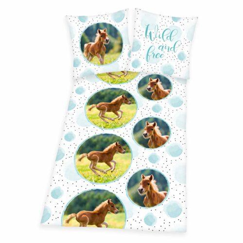 Produktbild Bettwäsche Pferd Mehrfarbig Bettwäsche Vorderseite
