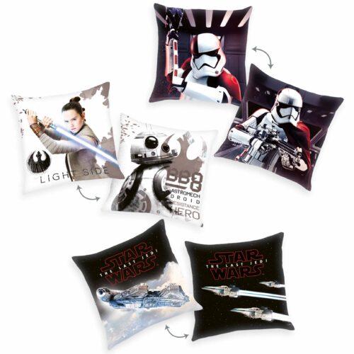 Produktbild Dekokissen 3er-set Star Wars weiß schwarz Dekokissen Vorderseite Rückseite
