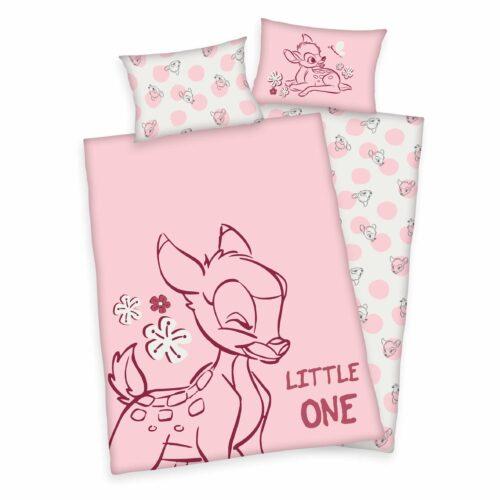 Produktbild Bettwäsche Disney Bambi little one rosa ganze Bettwäsche Vorderseite Rückseite