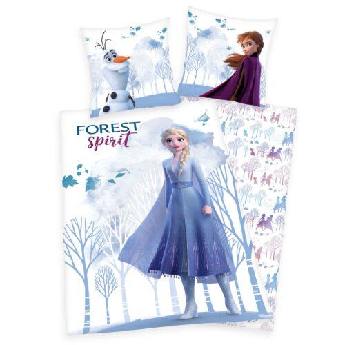 Produktbild Bettwäsche Disney Die Eiskönigin 2 weiß ganze Bettwäsche Vorderseite Rückseite
