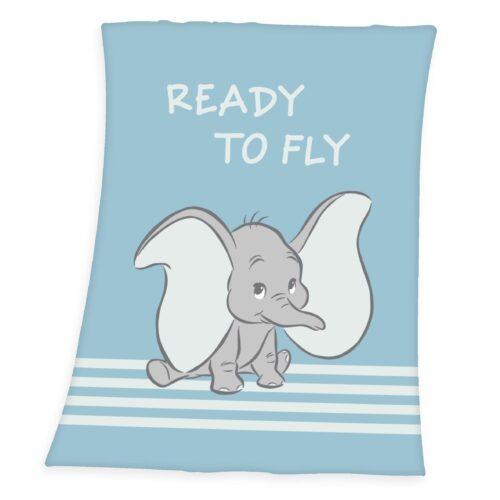 Produktbild Decke Disney Dumbo hellblau ganze Decke Vorderseite Rückseite