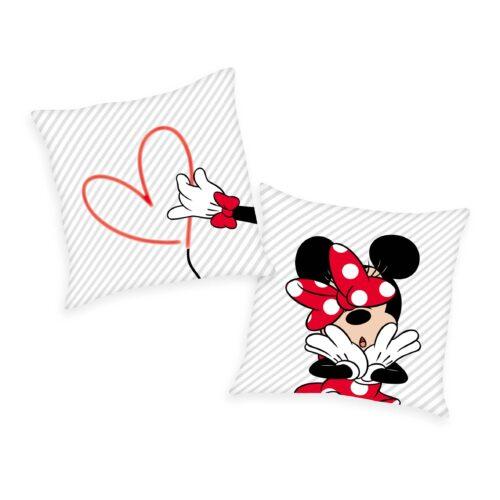 Produktbild Dekokissen Disney Minnie Mouse weiß rot Dekokissen Vorderseite Rückseite
