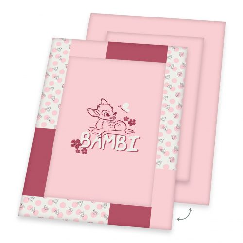 Produktbild Krabbeldecke Baby Bambi rosa Decke Vorderseite Rückseite