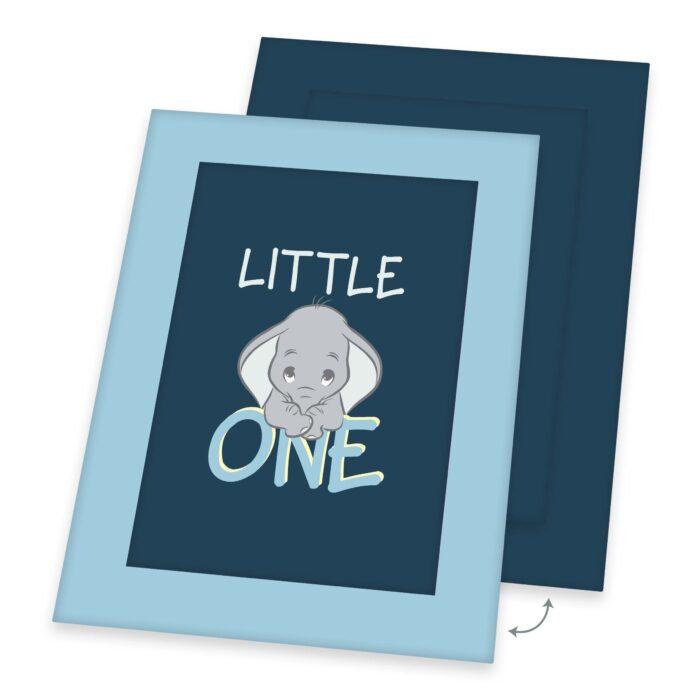 Produktbild Krabbeldecke Baby Dumbo blau Decke Vorderseite Rückseite