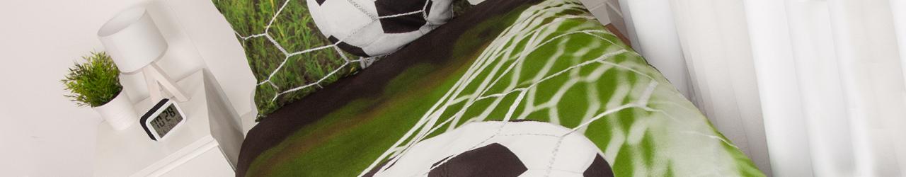 Fussballzimmer mit Fußballbettwäsche