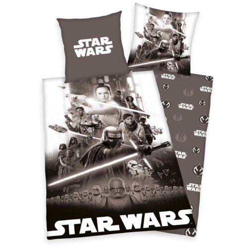 Produktbild Babybettwäsche Star Wars 9 blau ganze Bettwäsche Vorderseite Rückseite