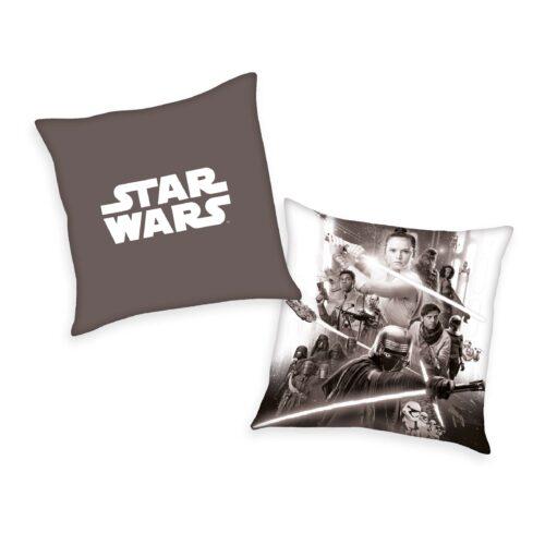 Produktbild Dekokissen Star Wars 9 braun weiß Dekokissen Vorderseite Rückseite