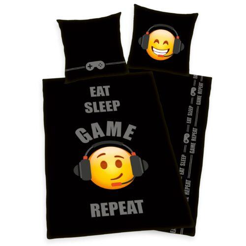 Produktbild Eat Sleep Game Repeat Bettwäsche Emotix ganze Bettwäsche