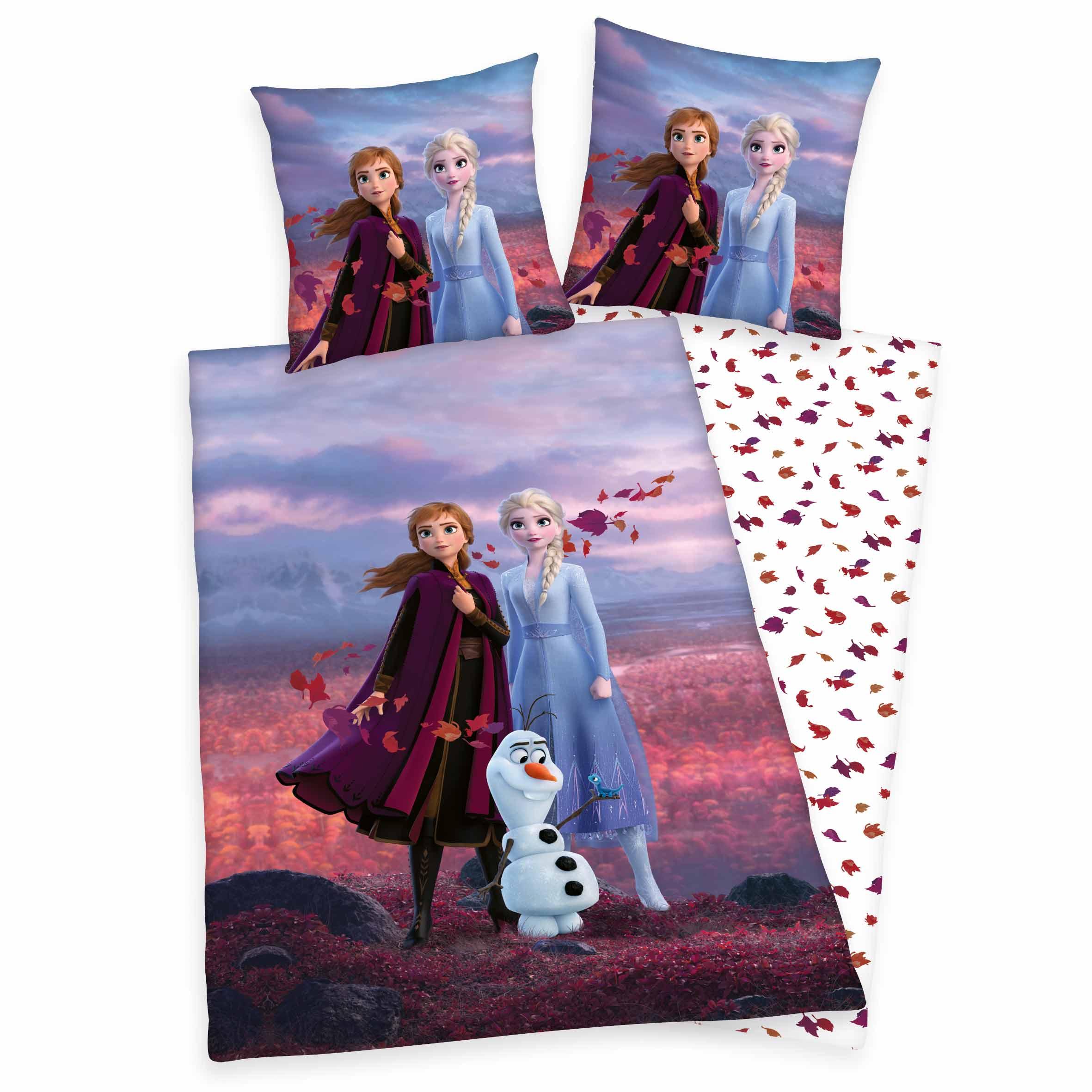 Produktbild Bettwäsche Disney die Eiskönigin 2 rot blau ganze Bettwäsche