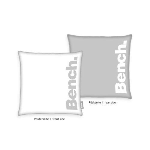 Produktbild Bench Kissenhülle Samt Urban Grey Grau 50x50 ganzes Kissen